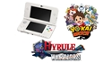 New Nintendo 3DS White + YO-KAI WATCH + Hyrule Warriors (3DS)