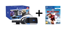 PlayStation VR V2 + kamera V2 + Mega Pack 5 her + Iron Man VR (PS4)