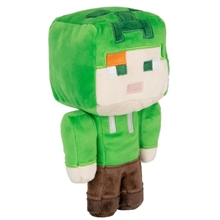 Plush Toy Minecraft Happy Explorer Gold Helmet Zombie