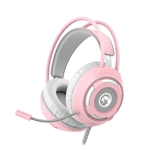 Headset with Microphone Marvo HG8936, pink, backlight, 3.5 jack + USB (PC)