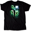 Tričko Minecraft - Three Creeper Moon (XL)