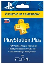 PlayStation Plus 365 Days SK (PS3, PS4)