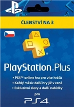 Playstation Plus 90 Days CZ (PS3, PS4)