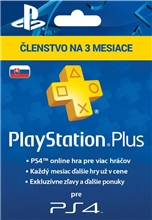 Playstation Plus 90 Days SK (PS3, PS4)