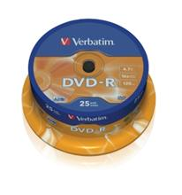 Média DVD-R Verbatim 4.7GB 16x, CakeBox, 25 kusů
