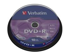 Média DVD+R Verbatim 4.7GB 16x, CakeBox, 10 kusů