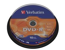 Média DVD-R Verbatim 4.7GB 16x, CakeBox, 10 kusů